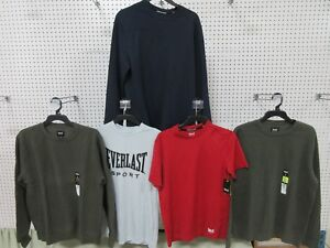 5 Everlast MEN'S Athletic Wear Clothing Long Short Sleeve T-Shirt Dry Fit Small