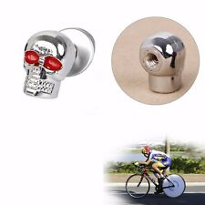 4Pcs Motorcycle Tag Fastener Skull License Plate Frame Bolts Screw Caps Fastener