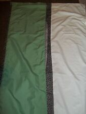 "FABRIC SHOWER CURTAIN  70"" X 72""  WHITE GREEN & GRAY EMBROIDERED LACE WORK BATH"