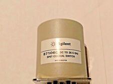 New Agilent Keysight 87106C 26.5GHz SP6T RF Microwave Coaxial Switch