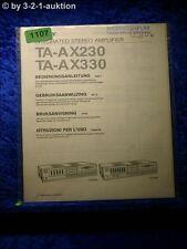 Sony Bedienungsanleitung TA AX230 / AX330 Stereo Amplifier  (#1107)