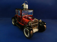 Car Ford Model T Coupe Tin Lizzi Merck Old World Christmas Glass Ornaments 46047