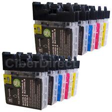 10 COMPATIBILE BROTHER LC-1100 BK / C / M / Y Stampante Cartucce Di Inchiostro-fattura con IVA.