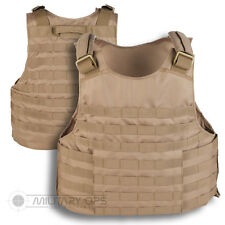 MOLLE TACTICAL ASSAULT VEST BASE PLATE CARRIER SAND COYOTE PALS