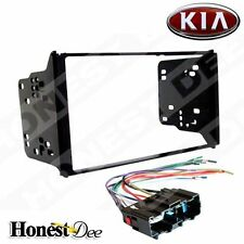 95-7328 Double Din Car Stereo Mount & Wires for Sorento, Radio Install Dash Kit