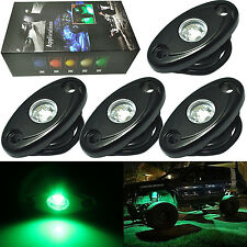 "4x 2"" Green CREE LED Rock Light JEEP Wrangler 4x4 Off-Road Under Wheel Rig Light"