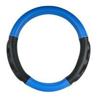 "18/"" steering wheel cover gloss black w//black hand grips universal semi truck new"