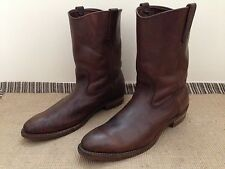 "Red Wing 497 Western 11"" Pull On Work Boots 14 AA Brown Leather PECOS 1092 1155"