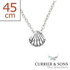 925 Sterling Silver Shell Pendant Necklace Design 2 (45cm / 18 inch)