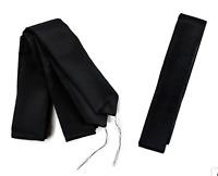 Japanese Men's Kimono Waist Belt KOSHIHIMO 240cm x 4.5cm 3pcs Set Black