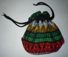 Guatemalan Drawstring BAG - Cinch Pouch Small Colorful Cloth Purse Stash FT46