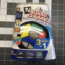 TV Board Games 3 in 1 Plug & Play Battleship, Simon & Checkers NEW