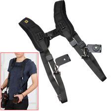 Double Dual Shoulder Quick Release Belt Strap Harness Holder For DSLR Camera