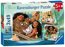 NEW Disney Moana 3 in a Box Puzzles Ages 5+ FREE SHIPPING