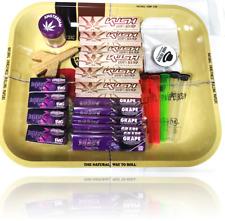 Raw Large Tray Smoking Gift Set Kush Rolling Papers Juicy Jay Grape Papers Kit