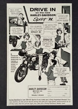 1962 Harley-Davidson Sprint H 250 Motorcycle vintage print Ad