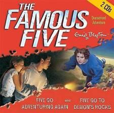 FIVE GO ADVENTURING AGAIN & FIVE GO TO DEMON'S ROCKS by Enid Blyton (CD-Audio, 2
