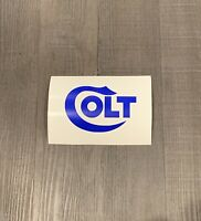 Colt Firearms Sticker  BLUE  Colt Decal  * Size Options*
