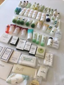 Lot Of 62 Hotel Travel Toiletries Soap Shampoo Conditioner Vanity Kit Etc.