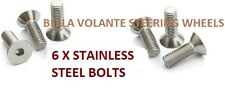 Steering wheel replacement bolts x6.Fits Momo,Sparco,Nardi,OMP boss hub kits.CSK