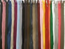 "30 COLOURS NYLON ZIP ZIPPER15"" TO 30"" CLOSED END CHUNKY /HEAVY DUTY PLASTIC ZIP"