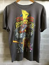 Vintage Retro 90s Colourful Mighty Morphin Power Rangers T-Shirt - Size Medium