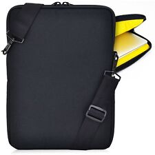 "Turtleback 11"" Macbook Heavy Duty Laptop Sleeve Case with Strap, Yellow Black"