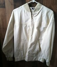 VINTAGE MALE DUDS LIGHTWEIGHT MEN'S JACKET WINDBREAKER BEIGE SIZE LARGE