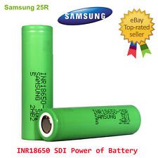 SAMSUNG INR18650-25R 3.7 Volt 2PCS Rechargeable Battery 2PC FREE CASE