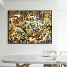 "Framed Wall Art Convergence by Jackson Pollock Canvas Giclee Print Art  24""x32"""