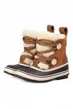 Chloe x Sorel Rubber Shearling Boots Beige Leather 36 36.5 37