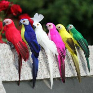 25CM Artificial Parrot Simulation Fake Birds Model Home Garden Yards Lawn Decor
