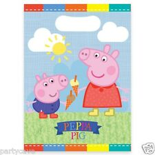 PEPPA PIG GEORGE PARTY NEW PLASTIC LOOT BAGS TABLEWARE DECORATION BANN