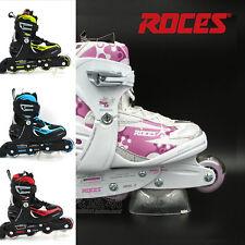 New - Roces Adjustable Girls/Kids Inline Skates/Rollerblades -Pink- Sizes US 4-7