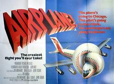 AIRPLANE! 1980 Robert Hays, Julie Hagerty, Leslie Nielsen UK QUAD POSTER