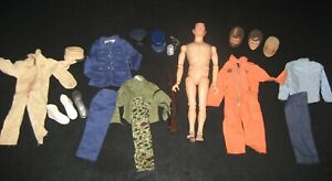 "Vintage 1960s Hasbro GI Joe 12"" Action Figure with Clothing & Accessory Lot CB"