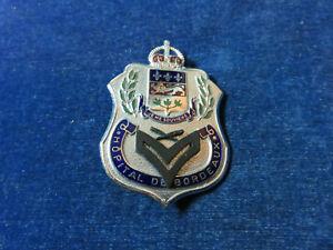 """Orig Antique Obsolete Cap Badge """"Hopital De Bordeaux"""" Scully Ltd - Montreal"""