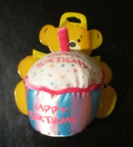 Build a Bear Say It With Heart Message Hugger Pillow Happy Birthday Cupcake