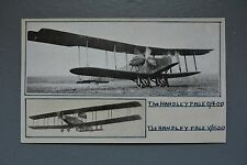 R&L Postcard: Old Handmade Card Handley Page 0/400 & V/1500 Aviation Plane
