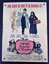 Original 1962 Pocketful of Miracles 30 x 40 Theatre Movie Poster ~ Bette Davis