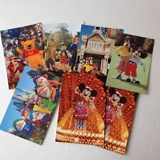 Walt Disney World Postcards (lot/bundle of 7) WDW Mirro-Krome pre-1996 Vintage