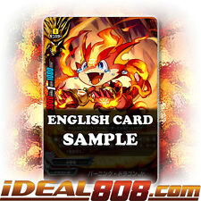 Buddyfight x 4 Burning Dragon Jr. [X-BT01A-CP01/0034EN R] English Mint Future Ca