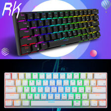 RK61 Bluetooth+USB Ergonomic RGB Backlight Mechanical Gaming PC Keyboard US