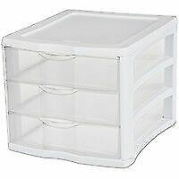 Sterilite 17918004 Clearview 3 Storage Drawer Organizer 073149179180