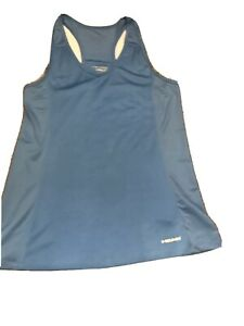 Head Active Athletic Excersise Tank Top Blue Woman Size Medium