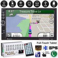 "bluetooth 7"" 2din in dash auto mp3 mp5 radio tv player gps navi touch + kamera"