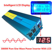 3000w pure sine wave power inverter 12v to 240v car boat camping travel LCD AU