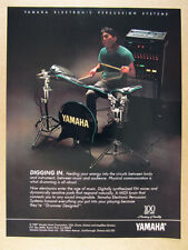 1987 Yamaha Electronic Percussion Systems drum set kit photo vintage print Ad