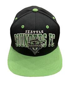 Adidas Mens Green Seattle Sounders FC Authentic Snapback Hat Baseball Cap