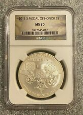 2011-S U.S. Medal of Honor Commemorative Dollar NGC MS70 UNC